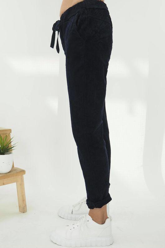 The Micro Cord Magic Pant Navy