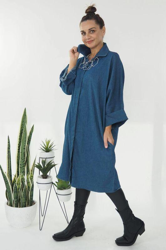 The Soho Shirt Dress Light Denim