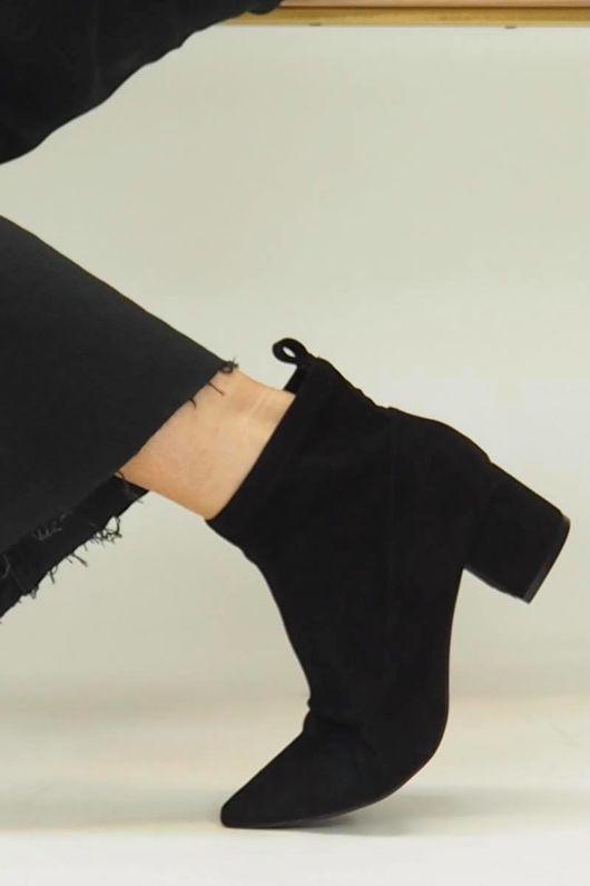 The Stella Cuban Sock Boot Black