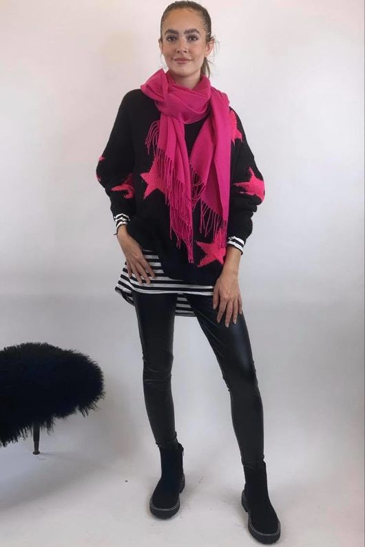 The All Star Box Knit Black & Pink