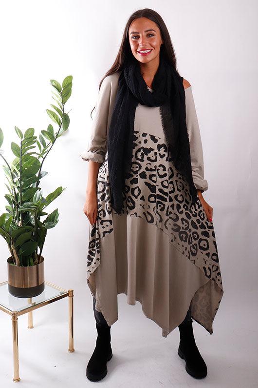 The Animal 4 Point Tunic Dress Ecru