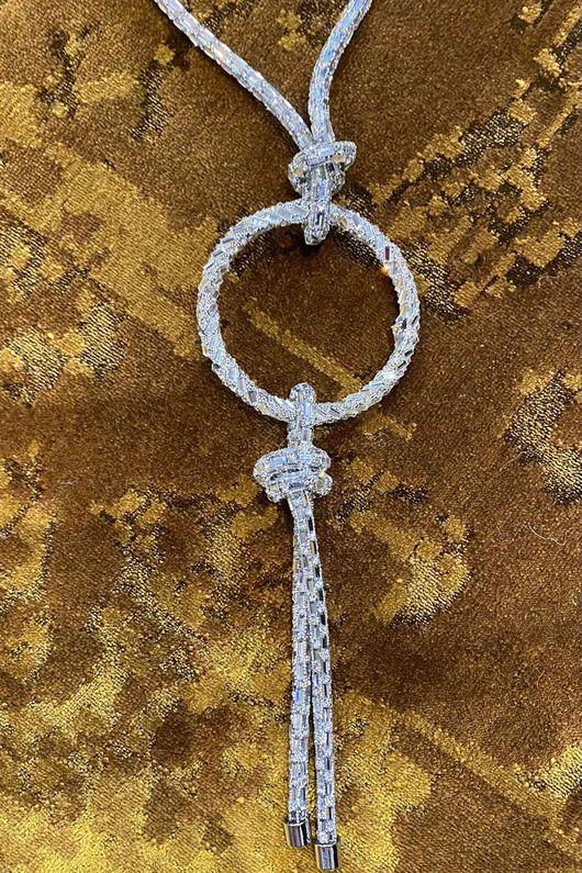 The Baguette Diamanté Loop Necklace