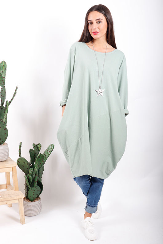 The Basic Cocoon Tunic Sage