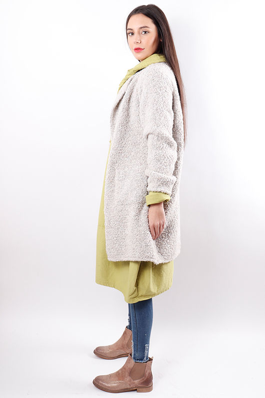 The Boucle Cardigan Cream