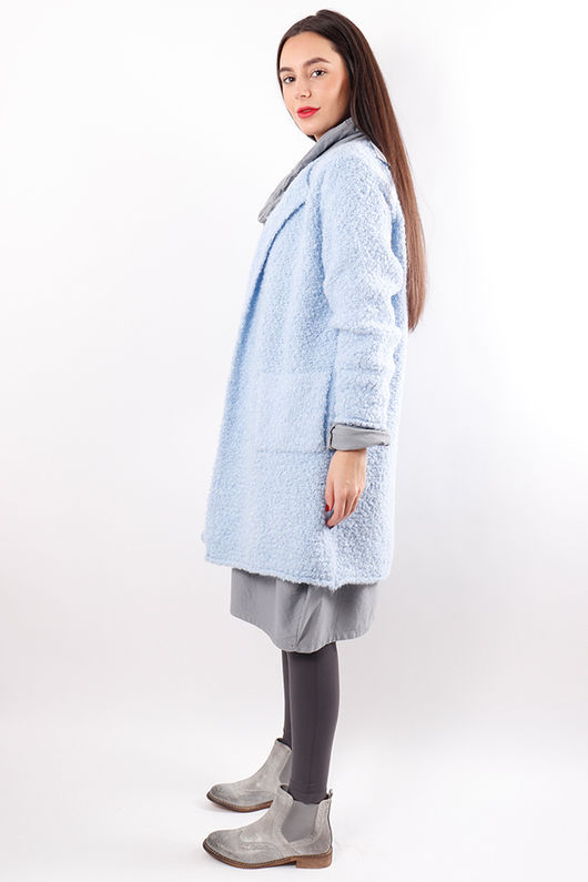 The Boucle Cardigan Periwinkle