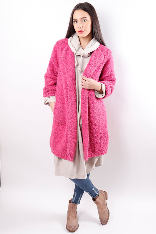 The Boucle Cardigan Pink