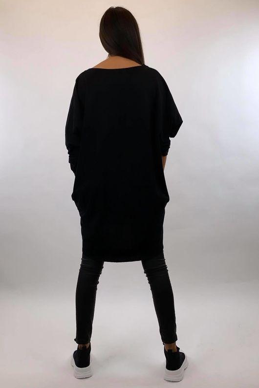 The Camo Lip Popoon Tunic Black