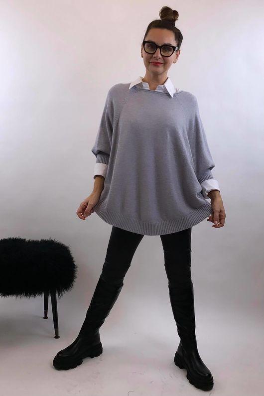 The Charli Batwing Sway Knit Light Grey Marl