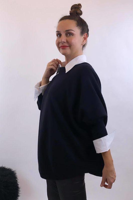 The Charli Batwing Sway Knit Navy
