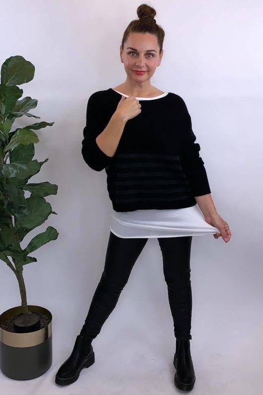 The Charli Breton Shortie Knit Black