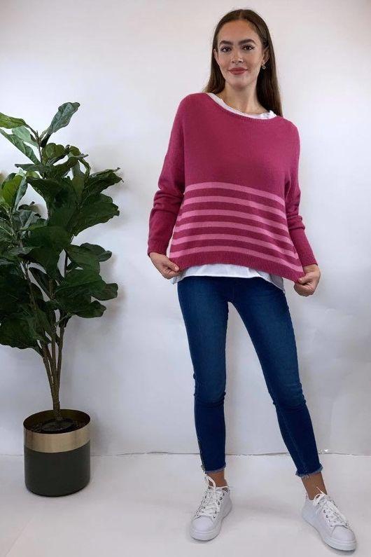 The Charli Breton Shortie Knit Indian Pink