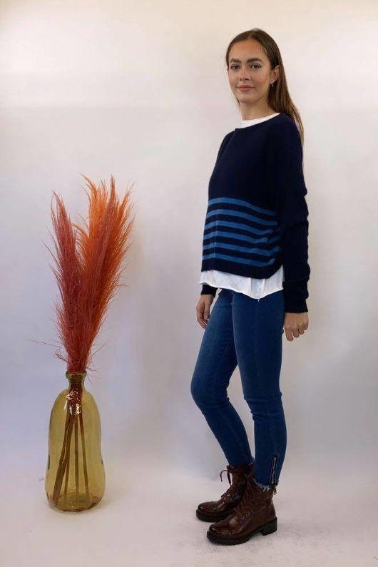 The Charli Breton Shortie Knit Navy