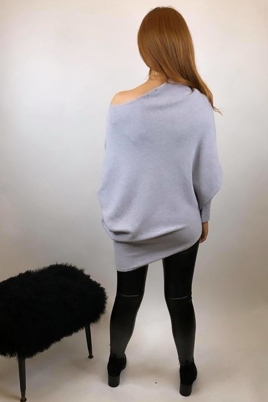 The Charli Huggle Knit Dove Grey