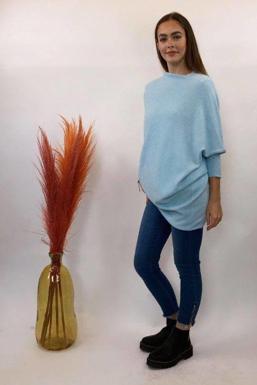 The Charli Huggle Knit Iceberg Blue