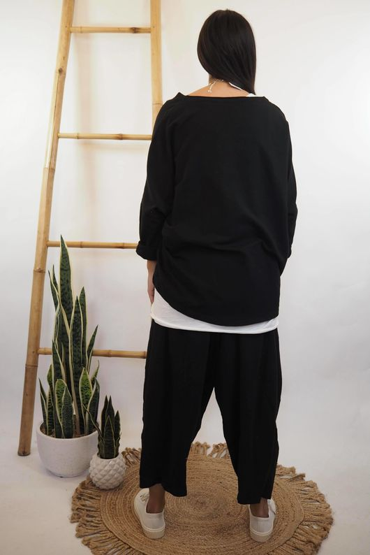 The Cocoon Relaxed Sweatshirt Black