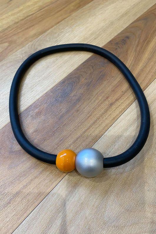 The Copenhagen Magnetic Necklace Pumpkin Silver