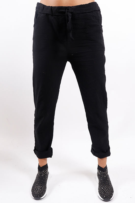 The Crinkle Smart Jogger Black