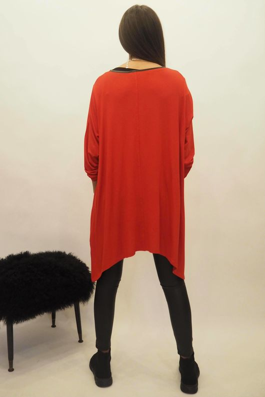 The Dip Side Kate Top Red