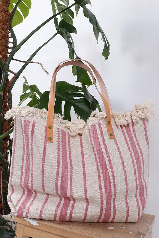 The Gili Stripe Bag Pink