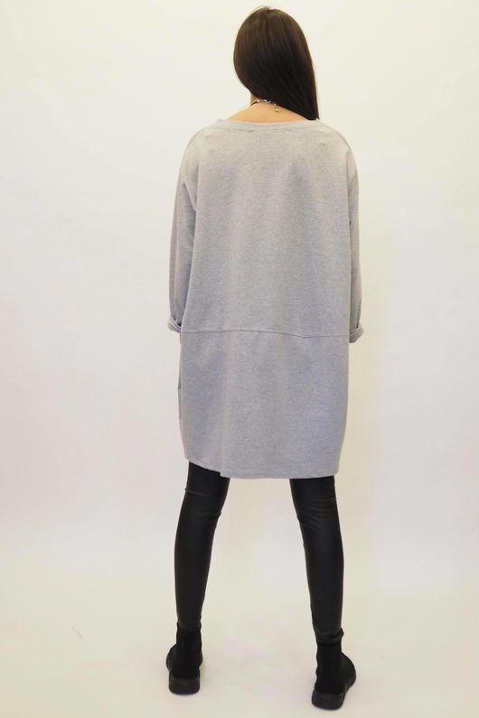 The La Boulle Oversized Sweatshirt Marl Grey