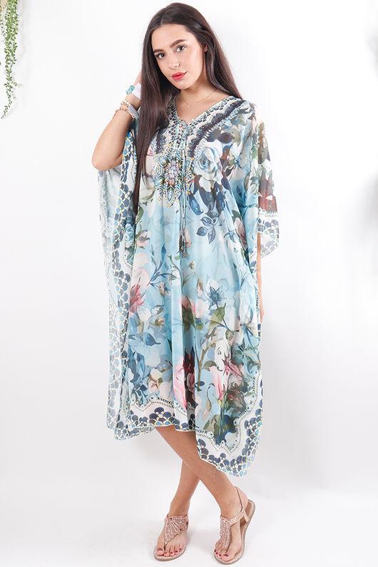 The Lopez Kaftan Dress Blues