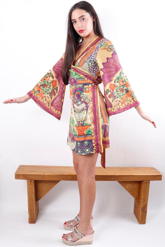 The Lopez Kimono Dress Spice