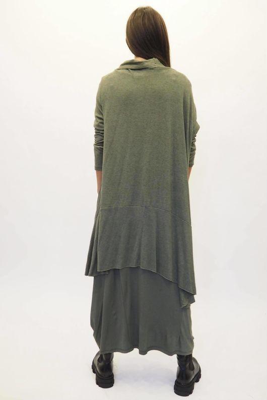 The Lux fine Knit Cardigan Khaki