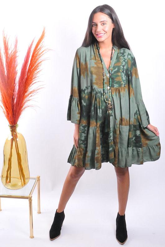 The Marant Impressionist Dress Khaki