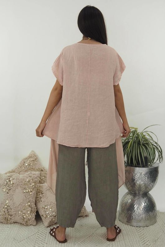 The Mercer Butterfly Top Blush