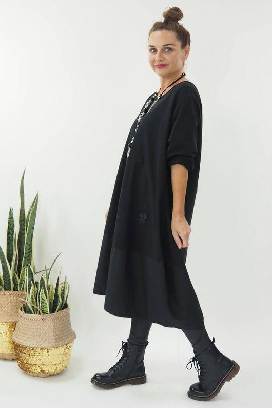 The Mercer Panel Cocoon Dress Black