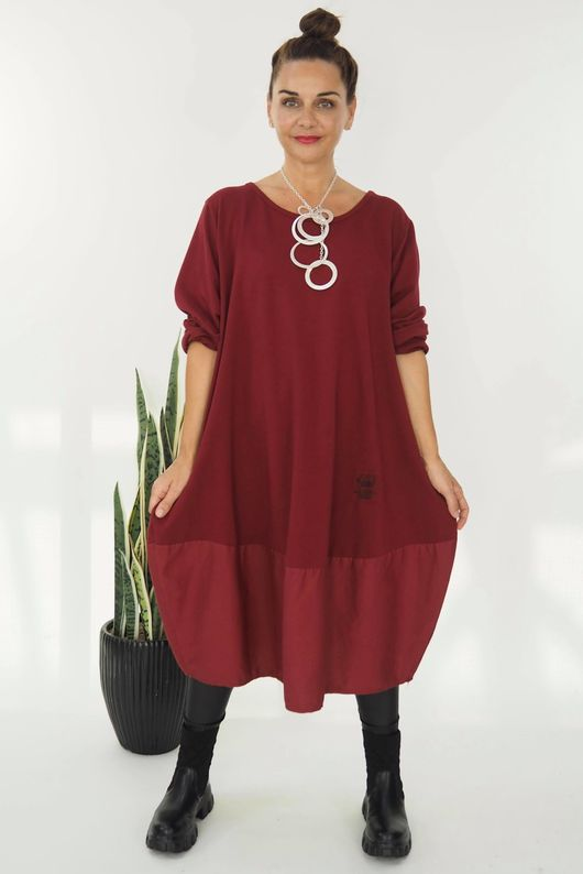 The Mercer Panel Cocoon Dress Rioja
