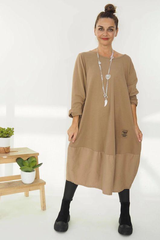 The Mercer Panel Cocoon Dress Soft Tan