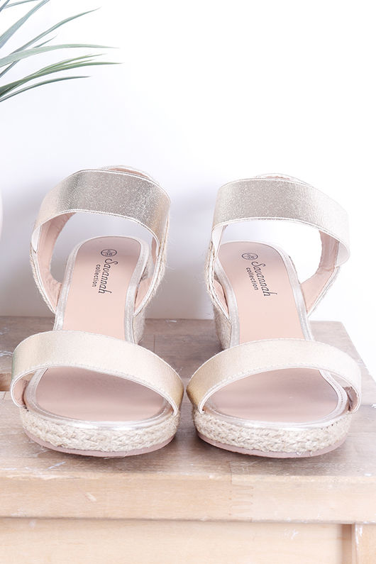 The Midi Wedges Gold
