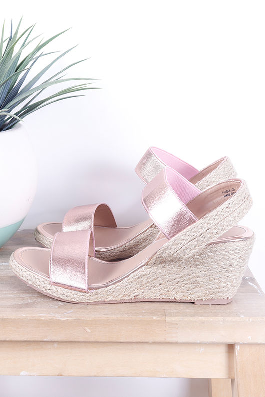 The Midi Wedges Rose Gold