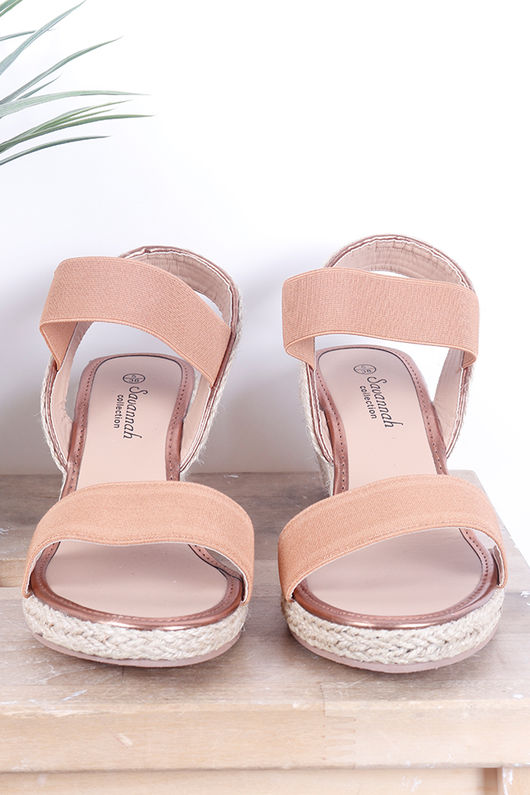 The Midi Wedges Tan