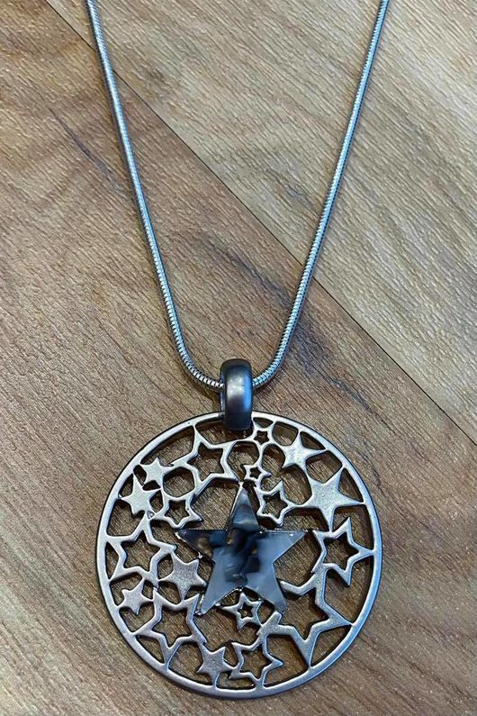 The Multi Star Disc Necklace