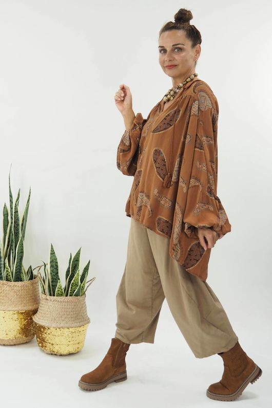 The Paisley Painters Blouse Tobacco