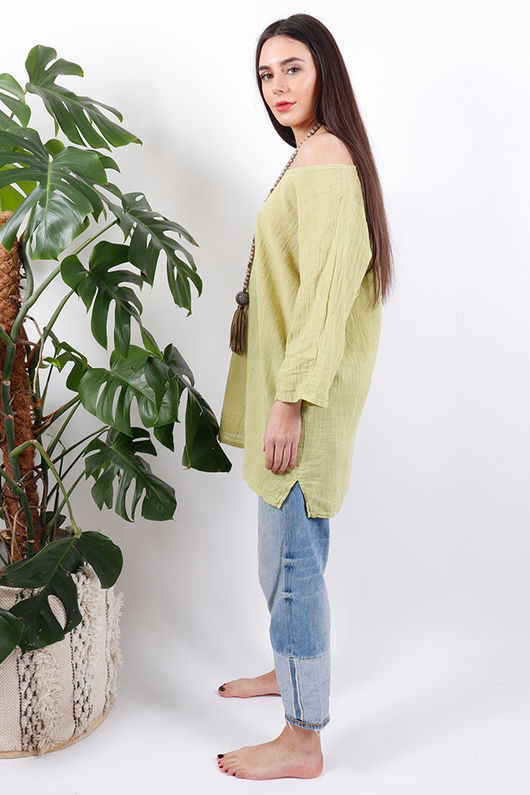 The Pure & Simple Top Lime