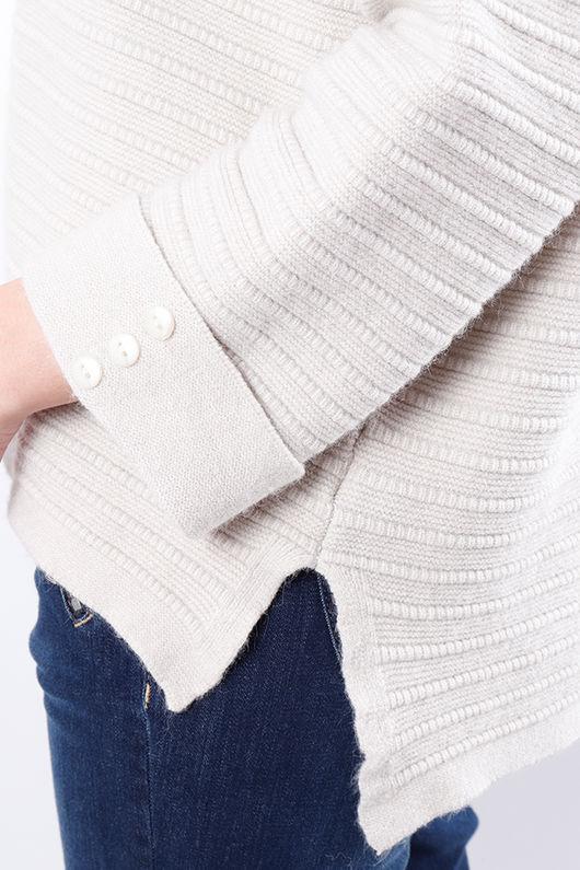 The Ribby Box Knit Cream