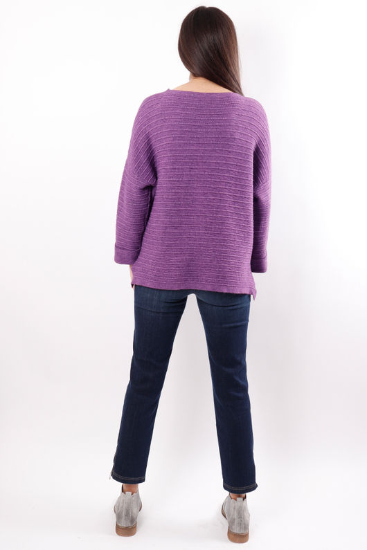 The Ribby Box Knit Ultra Violet