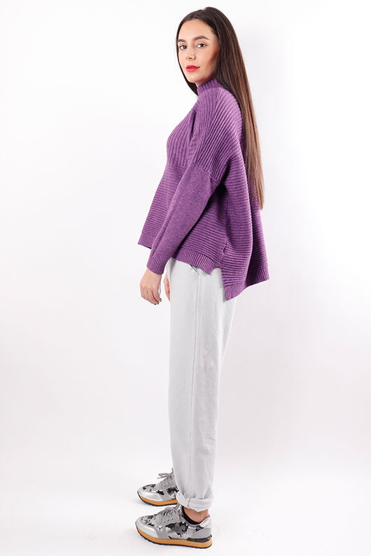 The Ribby Turtle Knit Ultra Violet