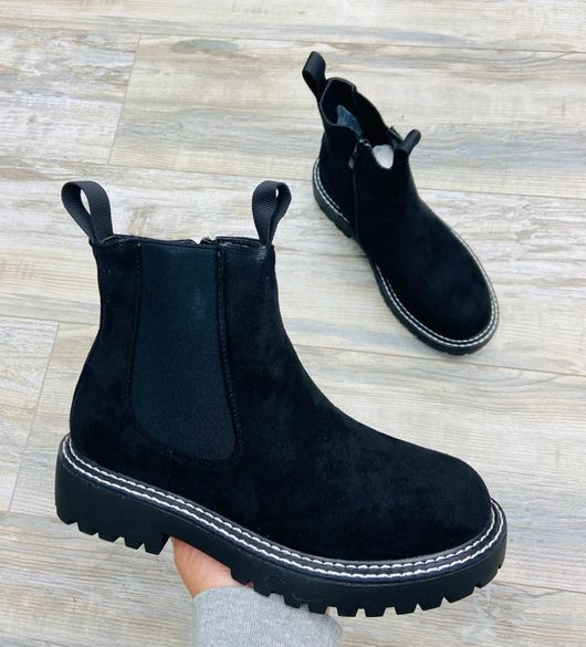 The Santiago Stitch Boot Black