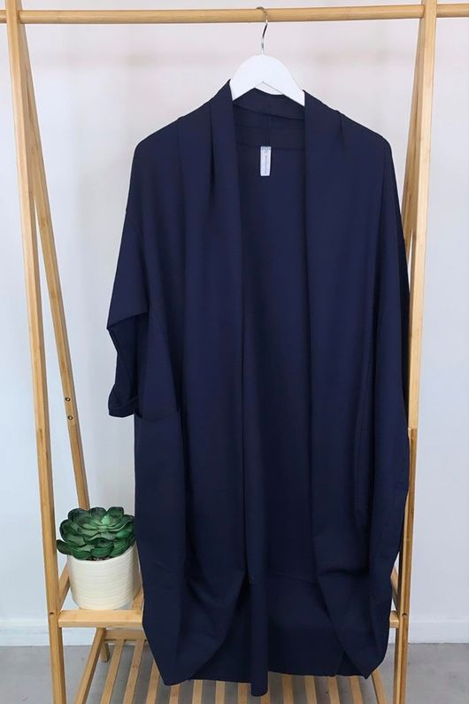 The Sloppy Joe Sweat Cardigan Navy