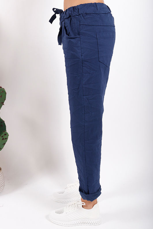 The Smart Crinkle Jogger Navy