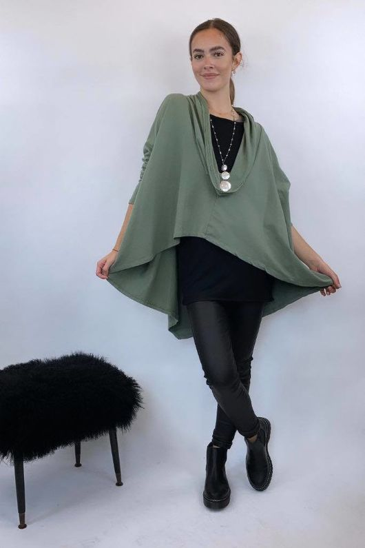 The Super Cowl Top Layer Light Khaki