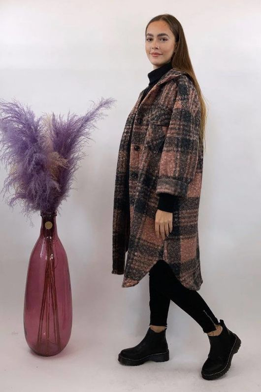 The Super Scotch Shacket Coat Blush