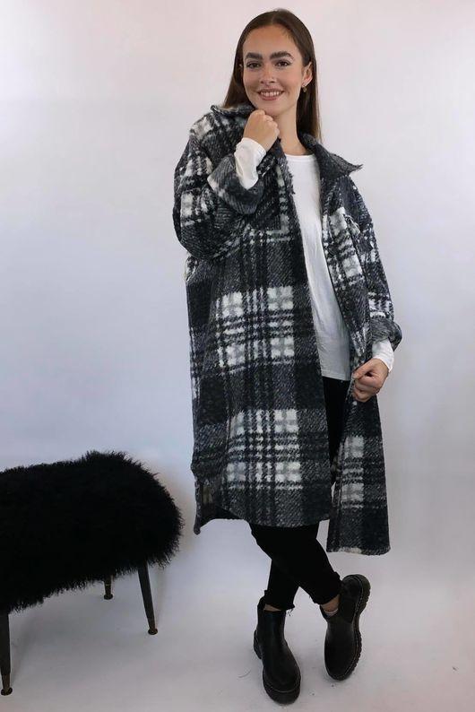 The Super Scotch Shacket Coat Winter White