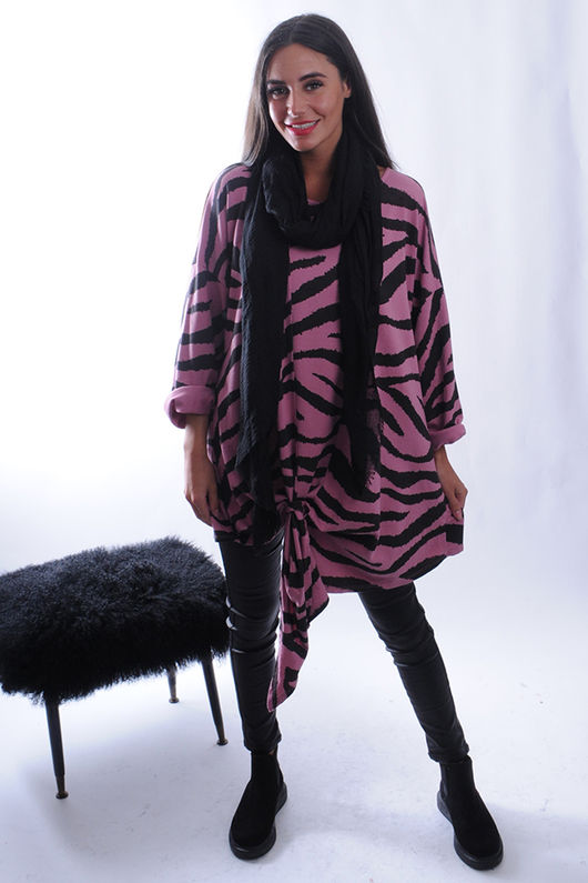 The Tiger Slip Knot Soft Sweat Indian Pink