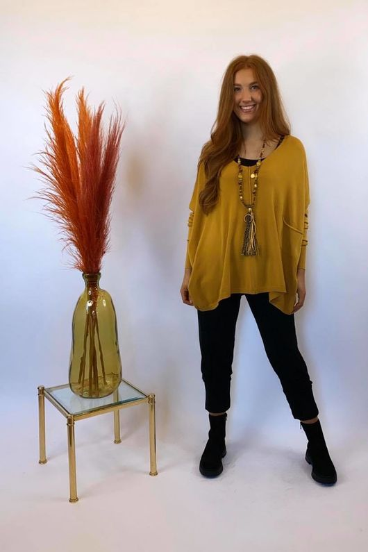 The Tilbury Oversized Relaxed Knit Dijon