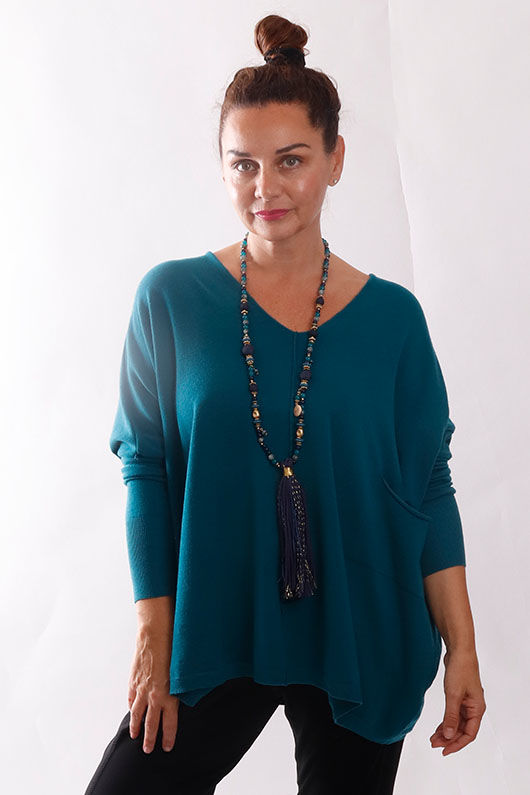 The Tilbury Oversized Relaxed Knit Tiffany Blue